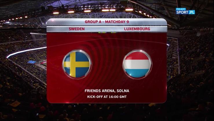 Szwecja - Luksemburg 8:0. Skrót meczu