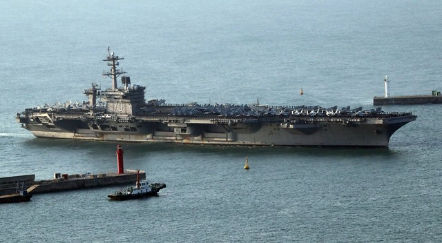 USA wysłały w kierunku Korei Północnej okręty marynarki wojennej
