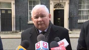 23-03-2017 20:01 Kaczyński o spotkaniu z May: rozmawialiśmy o przyszłości Polaków w Wielkiej Brytanii