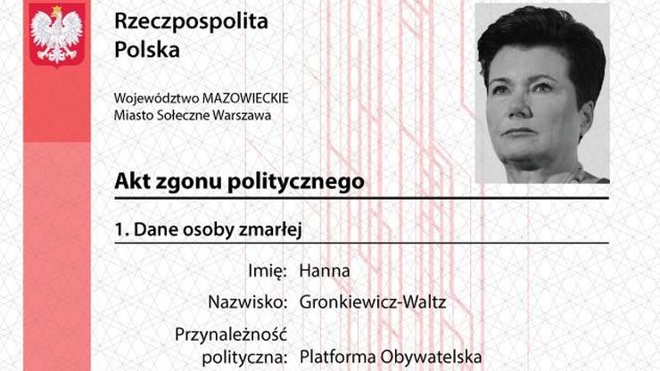 """""""Akty zgonu politycznego"""" - akcja Młodzieży Wszechpolskiej przeciwko prezydentom miast, którzy chcą przyjąć uchodźców"""