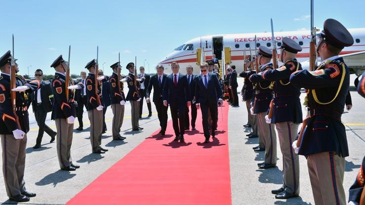 Prezydent Duda przybył na Słowację
