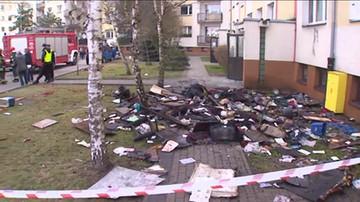 Wybuch gazu i pożar w bloku w Poznaniu