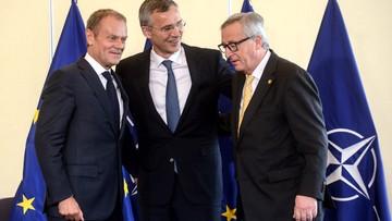 08-07-2016 13:06 Pierwsza decyzja w ramach szczytu. NATO i UE ogłaszają deklarację o wzmocnieniu współpracy