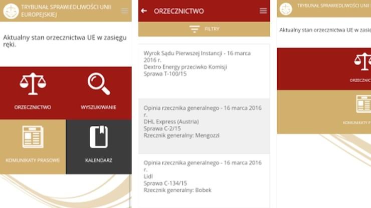 Nowa mobilna aplikacja Trybunału Sprawiedliwości UE