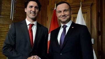 11-05-2016 05:07 KGHM, wschodnia flanka i TTIP. Rozmowa prezydenta Dudy z premierem Kanady
