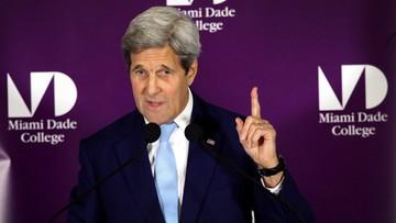 15-04-2016 21:22 Kerry: Rosja powinna wywrzeć presję na Asada ws. przestrzegania rozejmu