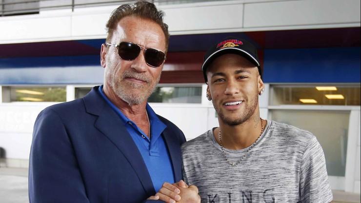 Schwarzenegger spotkał się z gwiazdami Barcelony