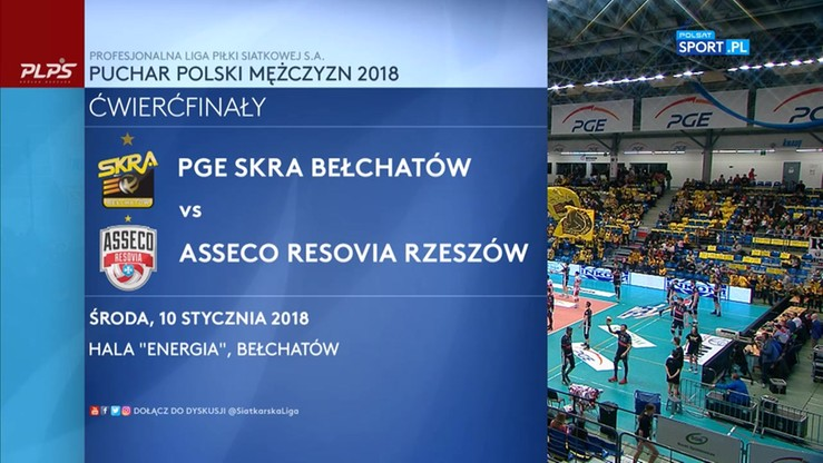 PGE Skra Bełchatów - Asseco Resovia 3:0. Skrót meczu