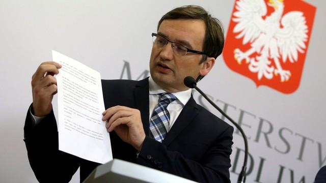 Ziobro: nie ma śledztwa przeciw Rzeplińskiemu, jest postępowanie sprawdzające