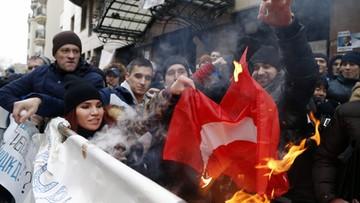 25-11-2015 15:49 Turecka ambasada w Moskwie obrzucona kamieniami
