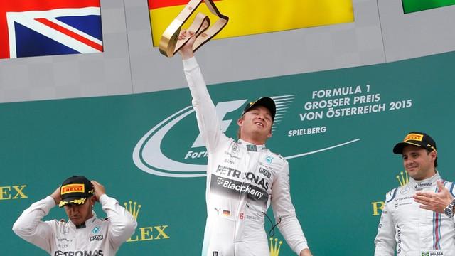 Formuła 1: Nico Rosberg wygrał wyścig o GP Austrii