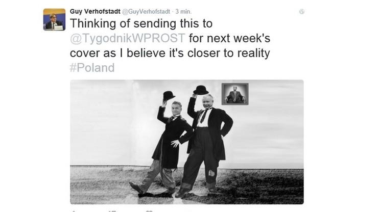 Flip i Flap, czyli Kaczyński i Orban w tweecie Verhofstadta
