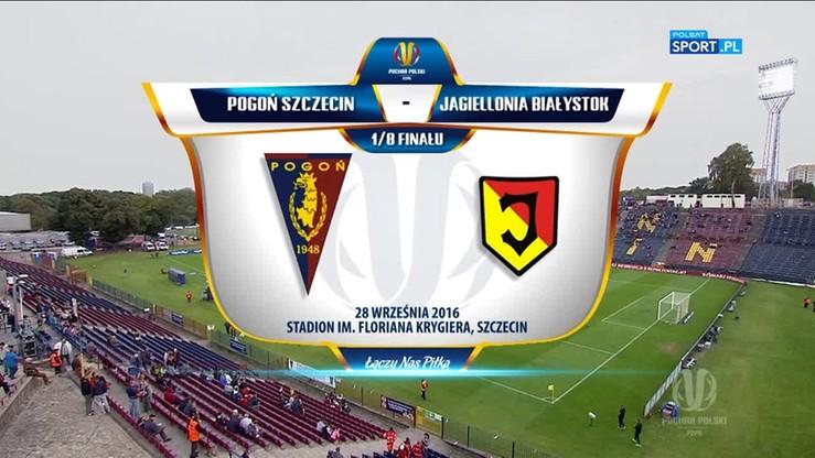 Puchar Polski: Pogoń Szczecin - Jagiellonia Białystok 4:1. Skrót meczu