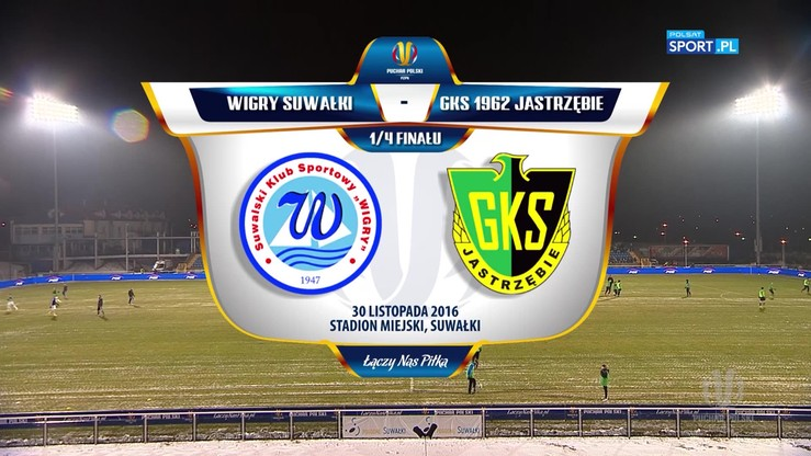 Wigry Suwałki - GKS 1962 Jastrzębie 1:1. Skrót meczu