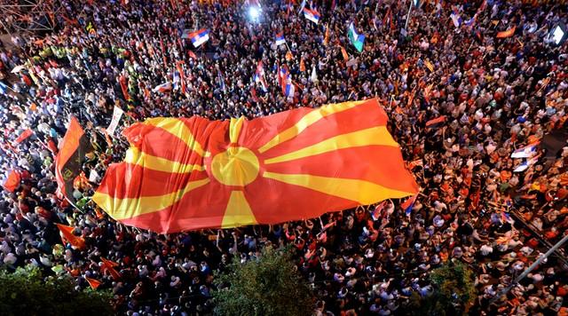 Macedonia: demonstracja zwolenników rządu