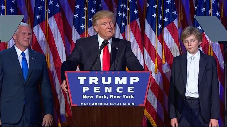 Trump w pierwszym przemówieniu: nadszedł czas, by Ameryka zaleczyła rany podziałów