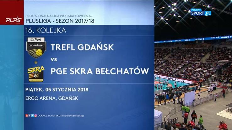 Trefl Gdańsk - PGE Skra Bełchatów 1:3. Skrót meczu