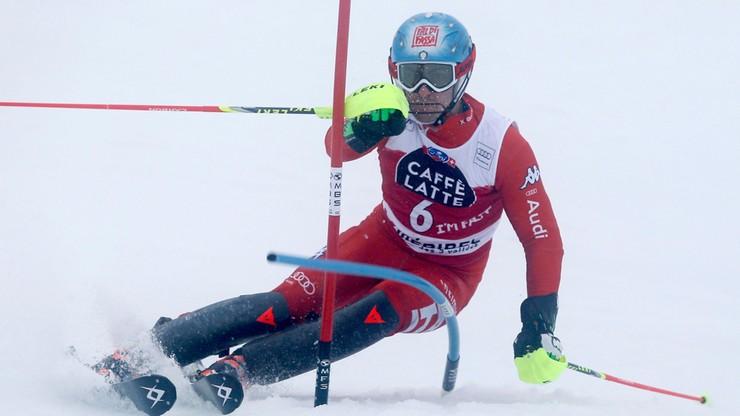 Gross prowadzi po pierwszym przejeździe slalomu