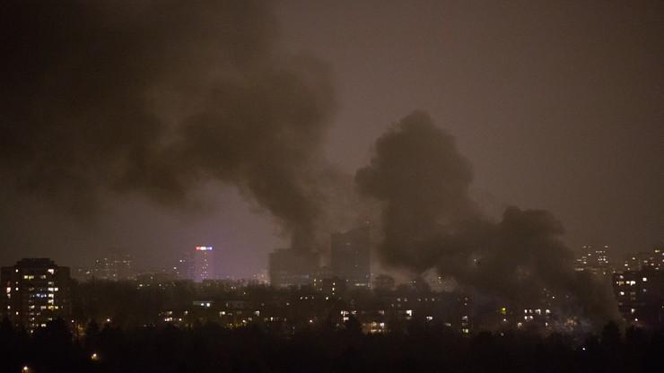 Pożar w ogródkach działkowych w Warszawie