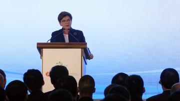 20-06-2016 21:19 Szydło: Polska naturalnym partnerem Chin dla Nowego Jedwabnego Szlaku