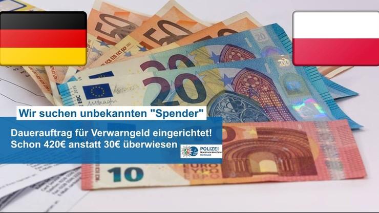 Co miesiąc płaci 30 euro mandatu. Niemiecka policja chce by przestał