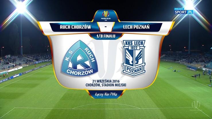 Ruch Chorzów - Lech Poznań 0:3. Skrót meczu