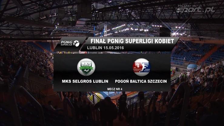 MKS Selgros Lublin - Pogoń Baltica Szczecin 27:25. Skrót IV meczu