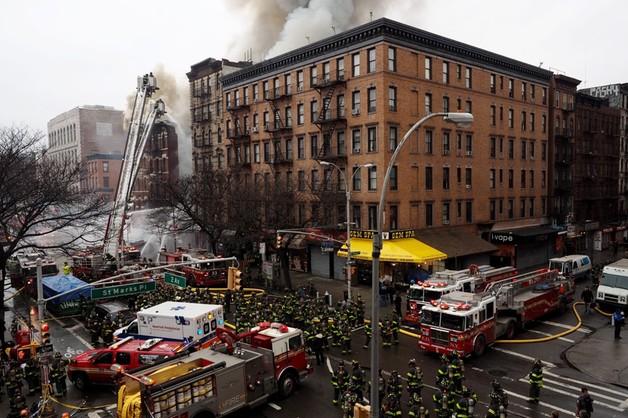 Wybuch i pożar na Manhattanie