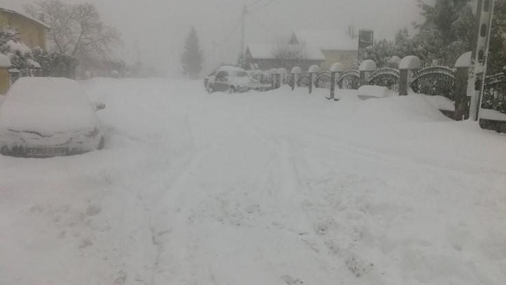 Ostry atak zimy w Lubiatowie