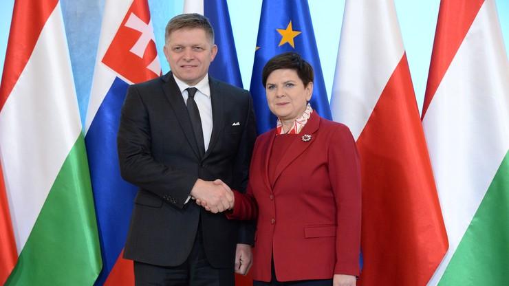 Premierzy państw Grupy Wyszehradzkiej na spotkaniu w Warszawie
