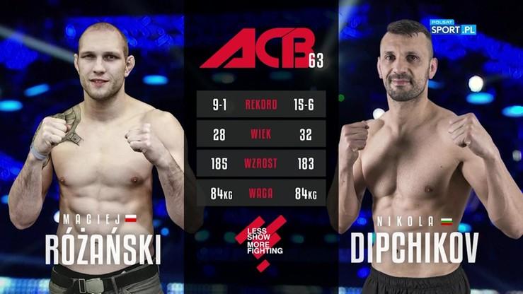 2017-07-01 Maciej Różański - Nikola Dipchikov. Skrót walki
