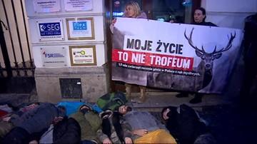 Protesty przeciwko ustawie, która wprowadza zmiany m.in. w prawie łowieckim