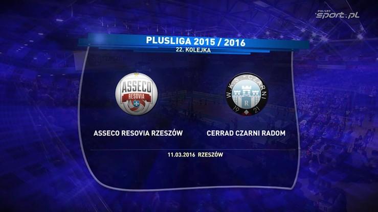 2016-03-11 Asseco Resovia - Cerrad Czarni Radom 3:1. Skrót meczu