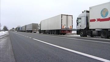 2016-02-12 Blokada rosyjskich ciężarówek na ukraińskim Zakarpaciu