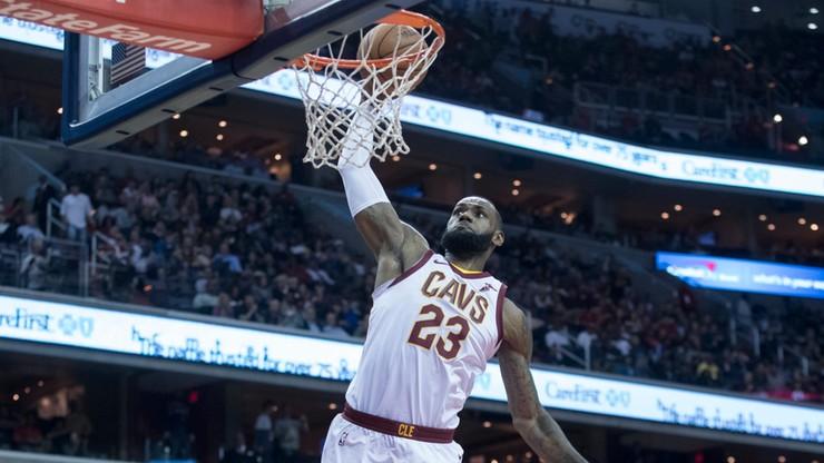 NBA: LeBron i spółka lepsi od Wizards. Przyzwoity dorobek Gortata