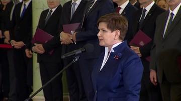 Beata Szydło: sprawy naszej ojczyzny będą dla nas najważniejsze