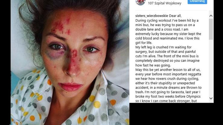 Poważny wypadek polskiej wioślarki. Gdy trenowała na rowerze, uderzył w nią bus