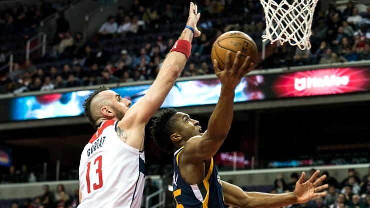 NBA: Solidny Gortat, ale Wizards nie sprostali Jazz