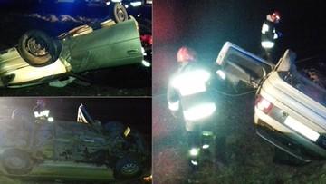 29-03-2017 15:52 Pijany uciekał przed policją. Skończył w rowie. Na dachu