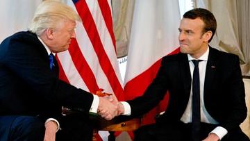25-05-2017 15:57 Donald Trump spotkał się z Emmanuelem Macronem