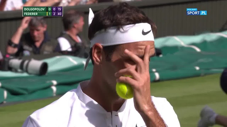Co za akcja! Instynktowne zagranie Federera