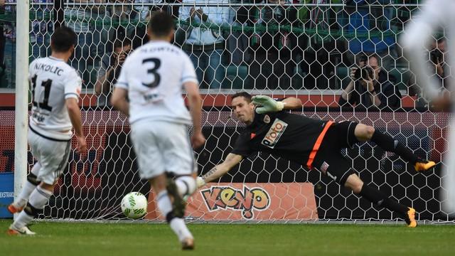 Nokaut w meczu na szczycie. Legia - Piast 4:0
