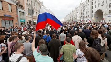 12-06-2017 18:50 Protest przeciwko korupcji w Rosji. Zatrzymano ponad 1000 osób, w tym Nawalnego