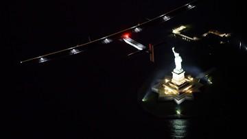 11-06-2016 12:21 Lot nad Symbolem Ameryki. Solar Impulse 2 minął Statuę Wolności