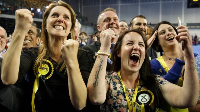 Wielki sukces Szkockiej Partii Narodowej w brytyjskich wyborach