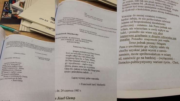 Listy do gen. Kiszczaka: pisali m.in. Bartoszewski, kard. Glemp,  Osiecka