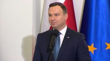 """11-03-2017 12:59 """"Dzięki wam polskie wsie są bardziej zamożne i nowoczesne"""". Prezydent Duda złożył życzenia sołtysom"""
