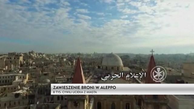 Zawieszenie broni w Aleppo - 8 tys. cywili ucieka z miasta