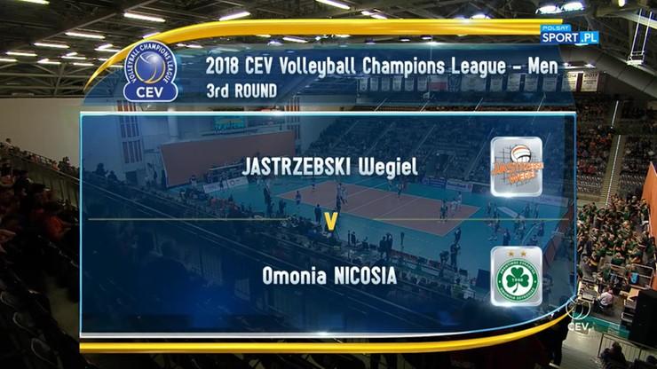 Jastrzębski Węgiel – Omonia Nikozja 3:0. Skrót meczu