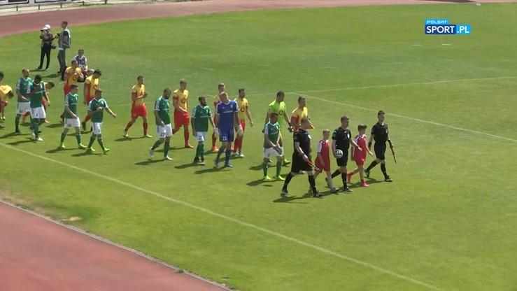 Znicz Pruszków - Olimpia Grudziądz 0:1. Skrót meczu